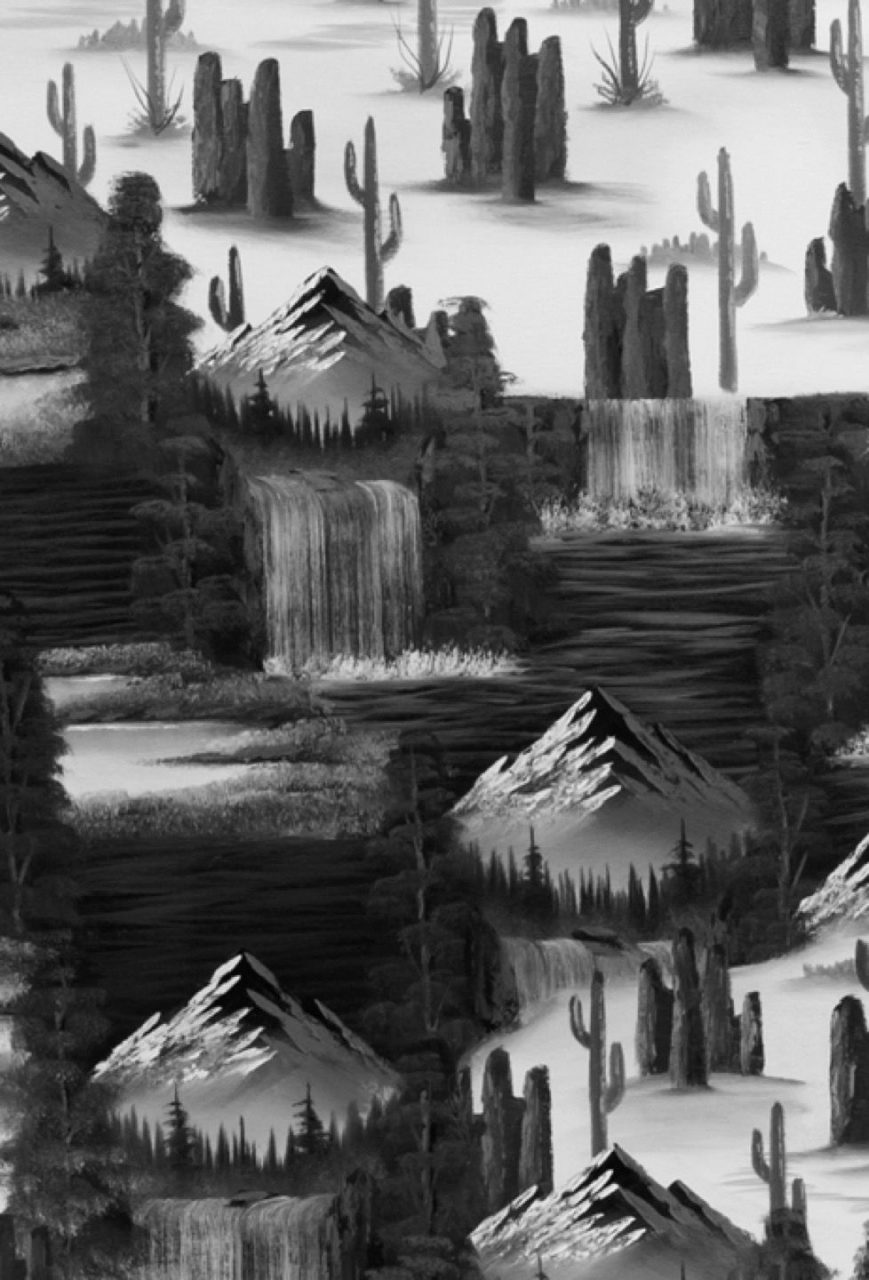 Fantasy Traveller | Mountain Waterfall (Cactus B&W Edit)(detail), 2016