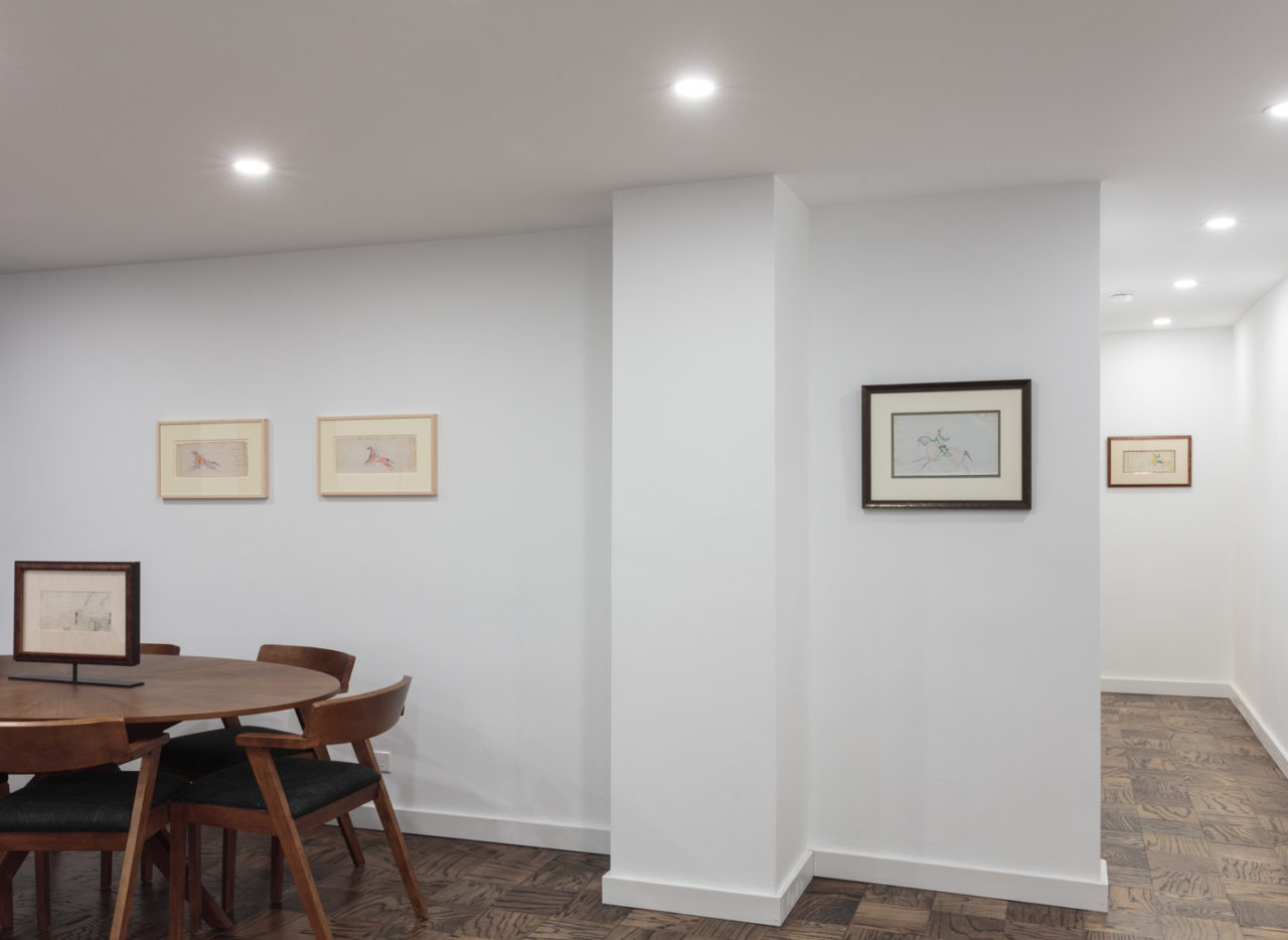 Sometimes Dreams are Wiser than Waking   Installation view, <i>Sometimes Dreams are Wiser than Waking: Plains Ledger Drawings 1865-1910</i>, Third Floor, 2019