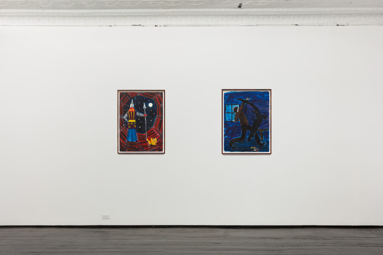 Works on Paper | Installation view, <i>The Guard</i>, 1979, and <i>Night Studio</i>, 1979
