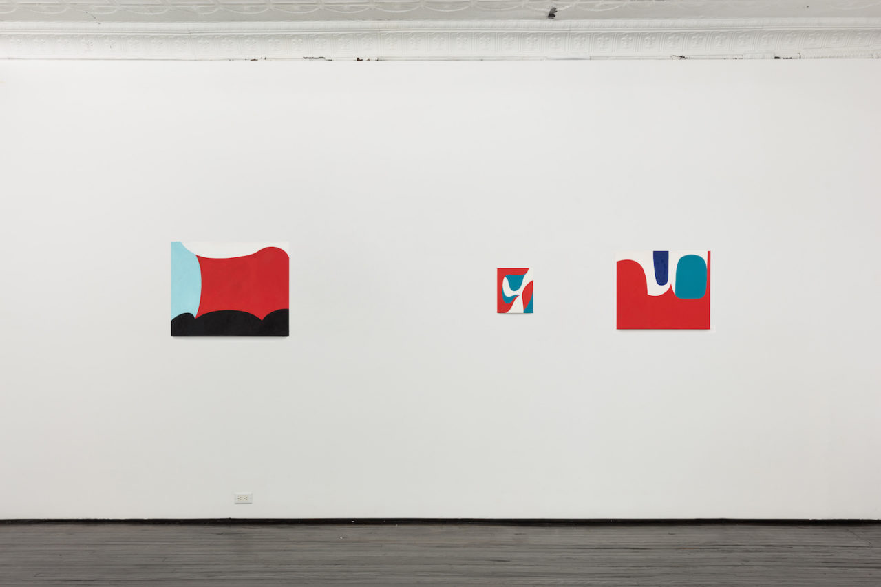 Paintings | Installation view, <i>6045</i>, 2014-2015; <i>5790</i>, 2013; and <i>5778</i>, 2013