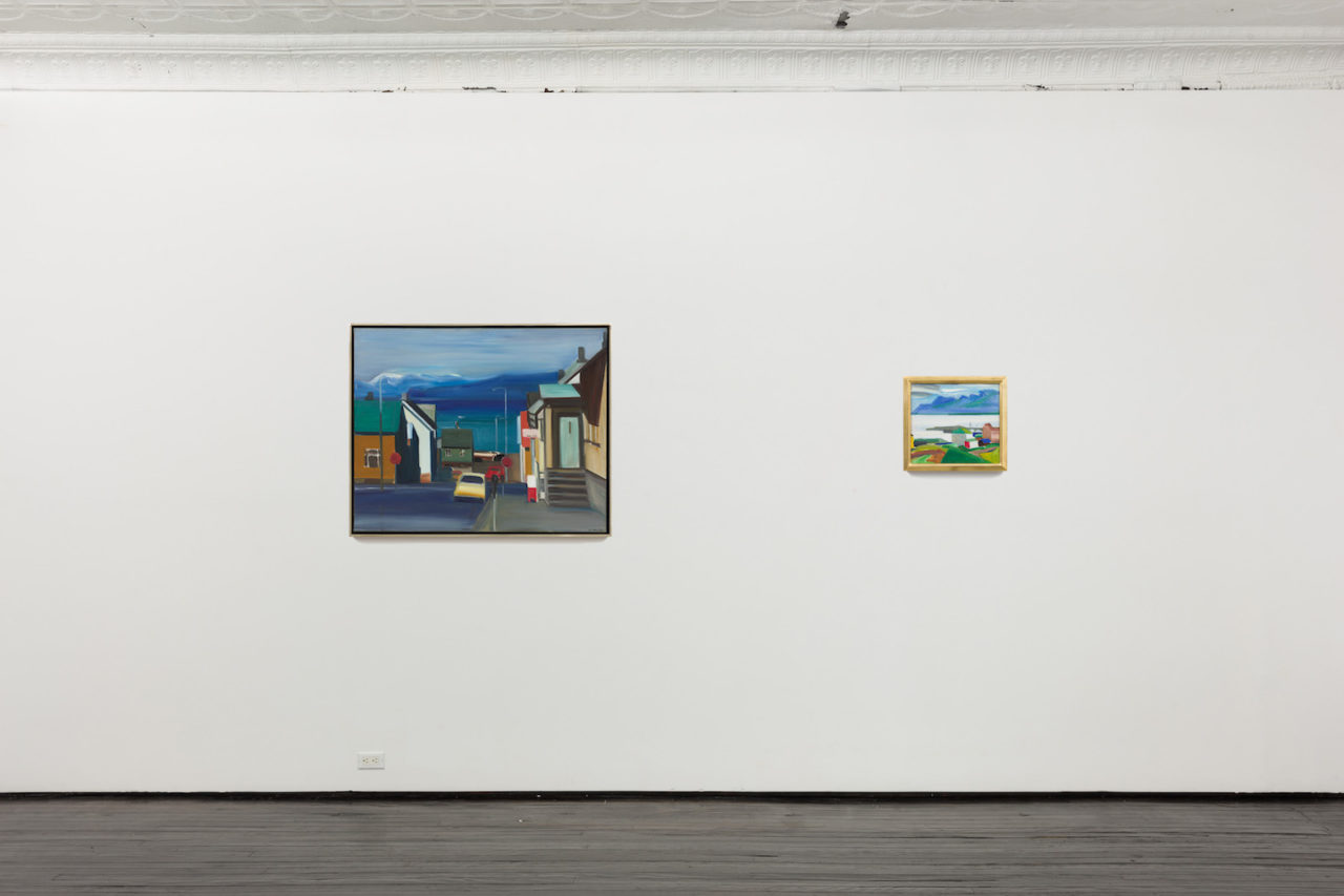 Six Landscapes | Installation view, <i>Untitled (Reykjavik)</i>, n.d., and <i>Harbor at Olafsvik</i>, 1978