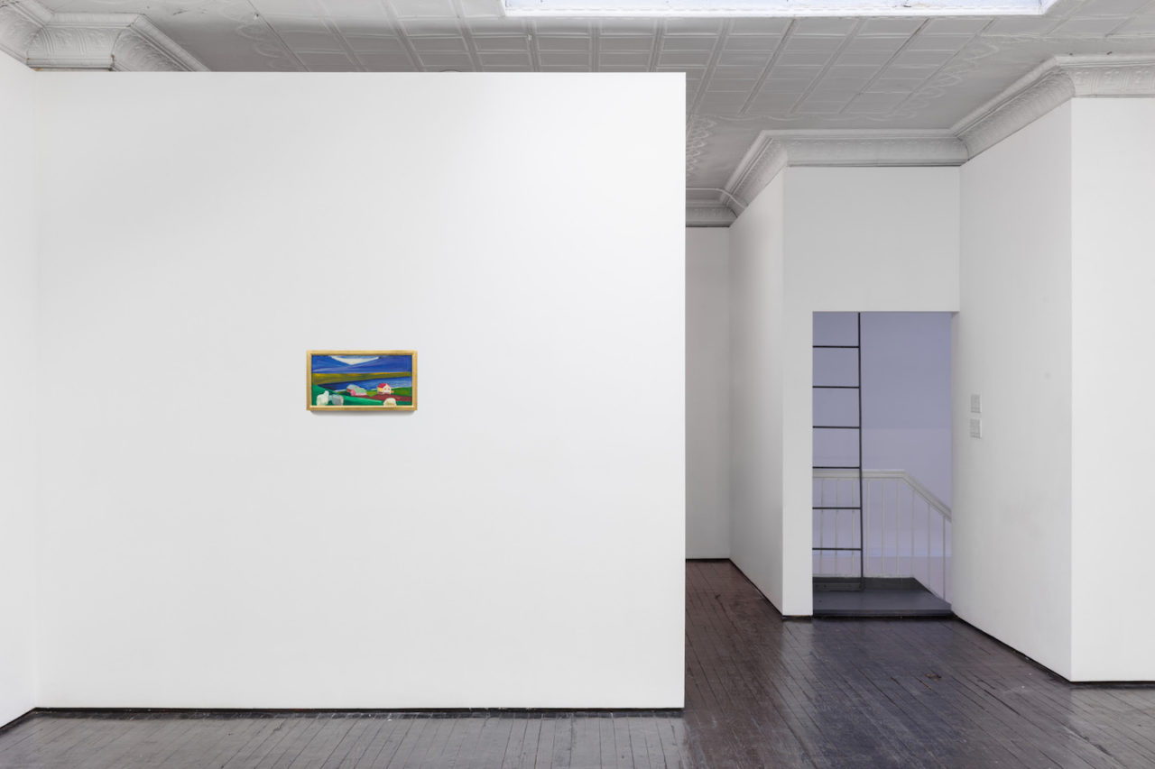 Six Landscapes | Installation view, <i>Village with Sheep</i>, 1985
